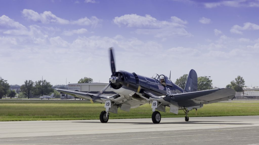 F4U Corsair Taxi Back - CAF Heart of America Wing 2015 Airshow, Copyright 2015-2016 Paul Danger Kile, All Rights Reserved